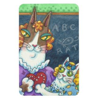 Hiss N' Fitz Cats TEACHER'S PET VALENTINE MAGNET
