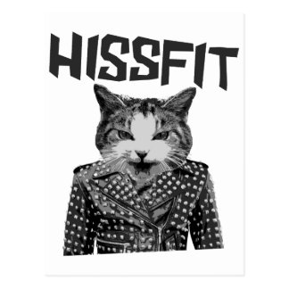 Hissfit Rebel Misfit Kitty Cat Postcard