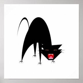 Hissing Cat Poster