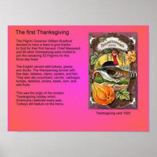 Histoire Amérique premier thanksgiving Posters