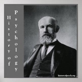 Histoire de G. Stanley Hall de toile de psychologi Poster