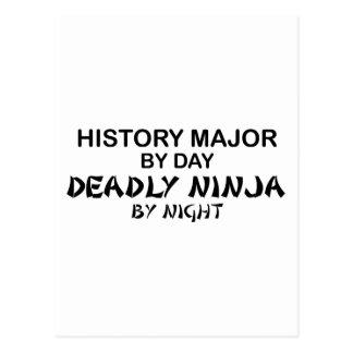Histoire Ninja mortel principal Carte Postale
