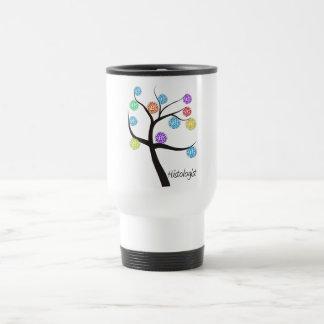 Histologist Tree Design Microscopic Cell Leaves Travel Mug