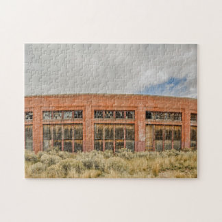 Historc Red Brick Roundhouse - Railroads Jigsaw Puzzle