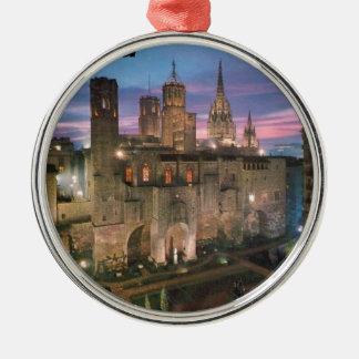 historia --barcelona--barrio--gotico  Angie Silver-Colored Round Ornament
