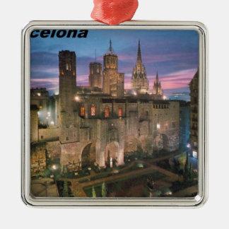 historia --barcelona--barrio--gotico  Angie Silver-Colored Square Ornament