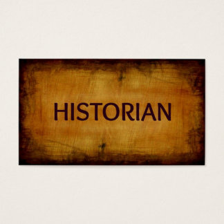 Historian Antique Business Card