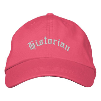 Historian Embroidered Hat Cap Gift