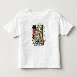 Historiated initial 'A' depicting Daniel Tshirts
