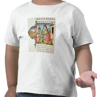 Historiated initial 'A' depicting Tshirt