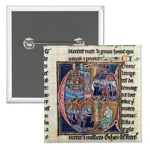 Historiated initial 'C' depicting Conrad III Pins
