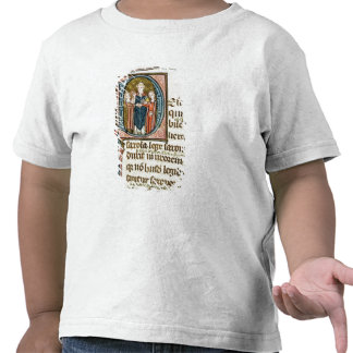 Historiated initial 'D' depicting a priest Tee Shirt