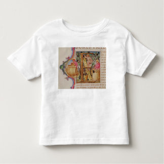 Historiated initial 'E' depicting grape picking Toddler T-shirt