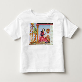 Historiated initial 'L' depicting Pliny the T-shirts