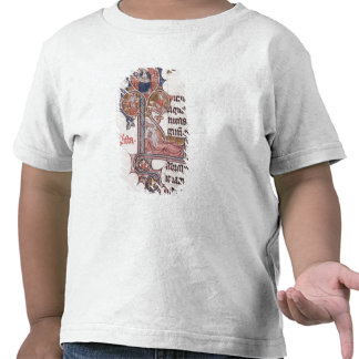 Historiated initial 'L' depicting Tree of T-shirts