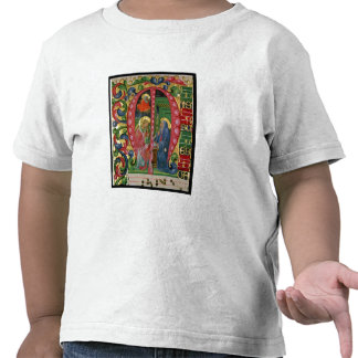 Historiated initial 'M' depicting The Annunciation Tshirts