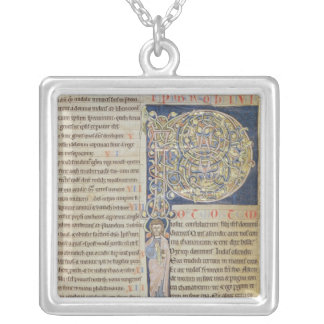 Historiated initial 'P' Silver Plated Necklace