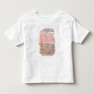 Historiated initial 'Q' depicting three Shirts