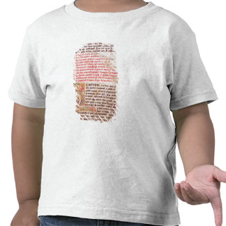 Historiated initial 'Q' depicting three T Shirt