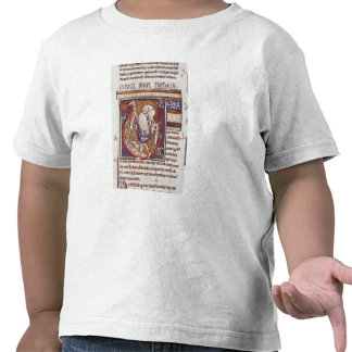 Historiated initial 'V' depicting Amos T Shirt
