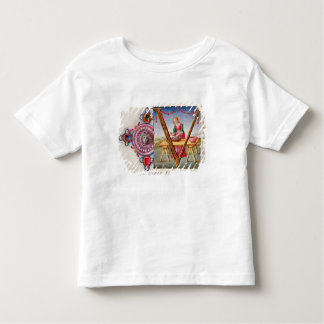 Historiated initial 'V' depicting Tshirt