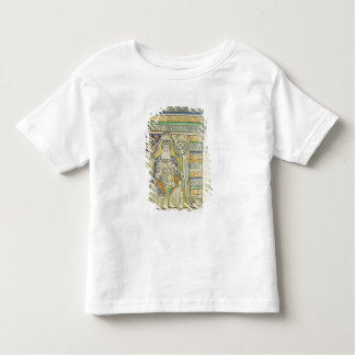 Historiated letter 'A' depicting generations Tees
