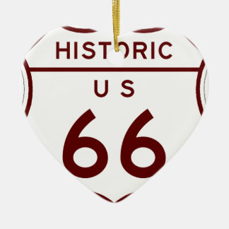 historic66 ceramic ornament