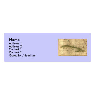 Historic 1639 Map of Cuba by Joan Vinckeboons Mini Business Card