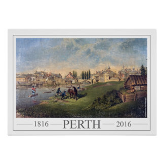 Historic 1853 Painting Perth Ontario Poster