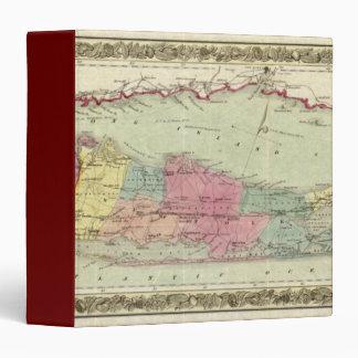 Historic 1855-1857 Travellers Map of Long Island Vinyl Binder