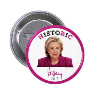 HistoRiC - 2016 Hillary Clinton for President 2 Inch Round Button