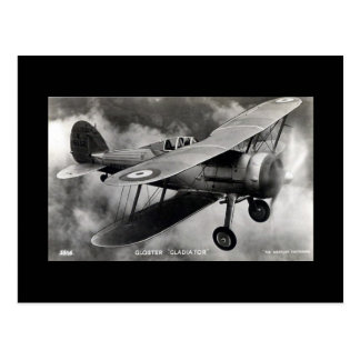 Historic Aircraft Postcard - Gloster Gladiator
