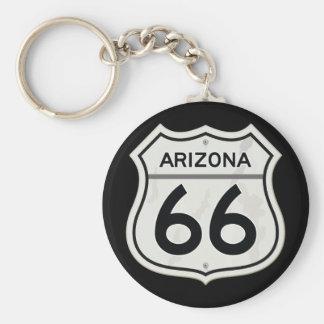 Historic Arizona US Route 66 Basic Round Button Keychain