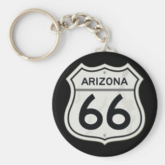 Historic Arizona US Route 66 Keychain