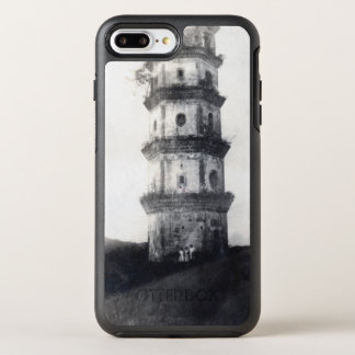 Historic Asian tower building OtterBox Symmetry iPhone 7 Plus Case