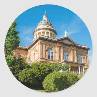 Historic Auburn California Courthouse Classic Round Sticker
