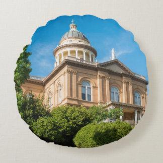 Historic Auburn California Courthouse Round Pillow