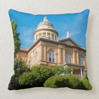 Historic Auburn California Courthouse Throw Pillow
