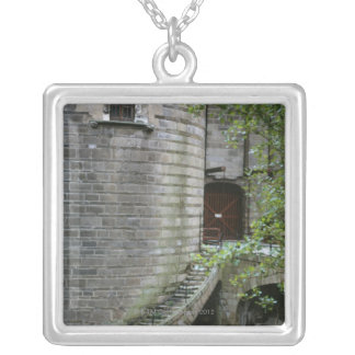 Historic building in Brittany, France Silver Plated Necklace