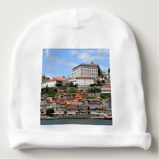 Historic buildings and river, Porto, Portugal Baby Beanie