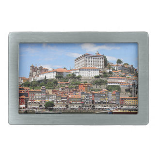 Historic buildings and river, Porto, Portugal Belt Buckles