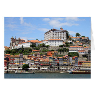 Historic buildings and river, Porto, Portugal Card
