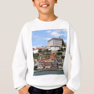Historic buildings and river, Porto, Portugal Sweatshirt