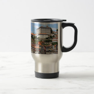 Historic buildings and river, Porto, Portugal Travel Mug