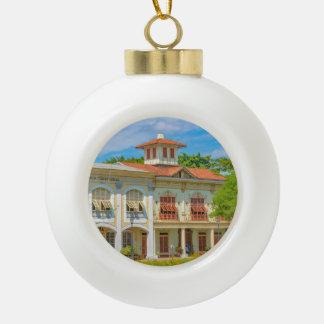 Historic Buildings, Parque Historico, Guayaquil Ceramic Ball Christmas Ornament