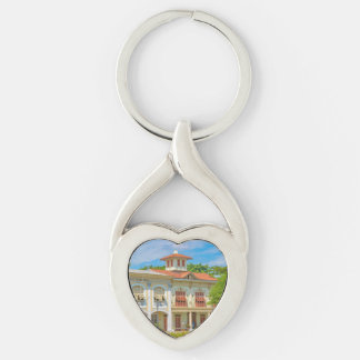 Historic Buildings, Parque Historico, Guayaquil Keychain