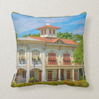Historic Buildings, Parque Historico, Guayaquil Throw Pillow