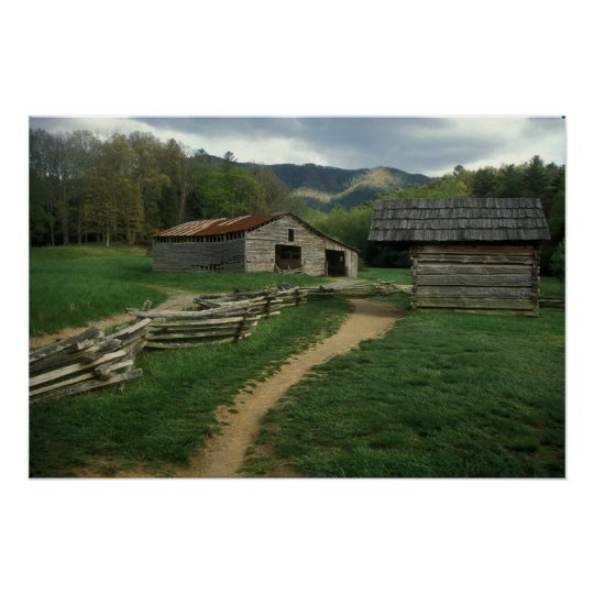 Historic Cabin Great Smoky Mountains Poster