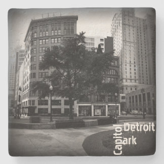 Historic Capitol Park in Detroit Stone Coaster