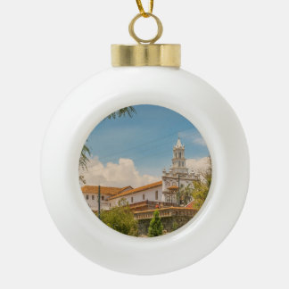 Historic Center of Cuenca, Ecuador Ceramic Ball Ornament